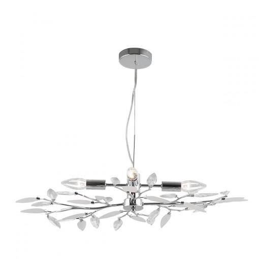 Светильник подвесной, арт. 63160-4H, E14, 4x40W, хром