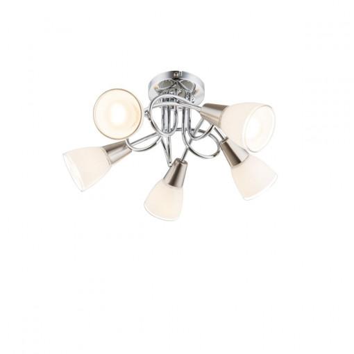 Светильник потолочный, арт. 63177-5, E14, 5x40W, хром