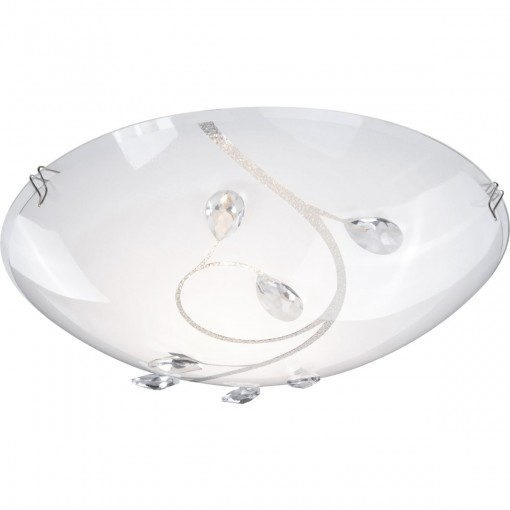 Светильник настенно-потолочный, арт. 40404-1, E27 ILLU, 1x60W, матовый никель