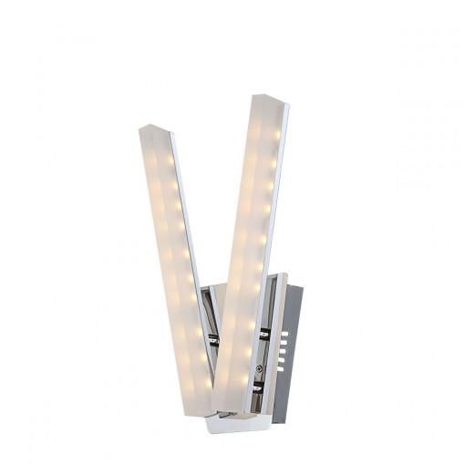 Светильник настенный, арт. 67057-2W, LED, 2x5W, хром