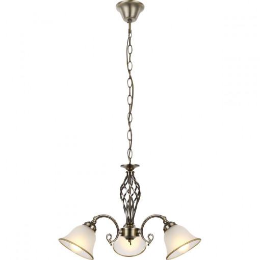 Светильник подвесной, арт. 60208-3, E27, 3x60W, античная бронза