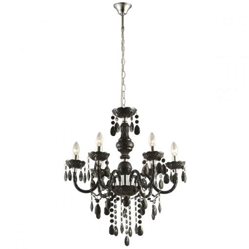 Светильник подвесной, арт. 63110-6, E14, 6x40W, черный