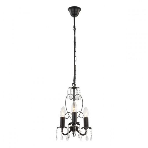 Светильник подвесной, арт. 63127-3, E14, 3x40W, черный