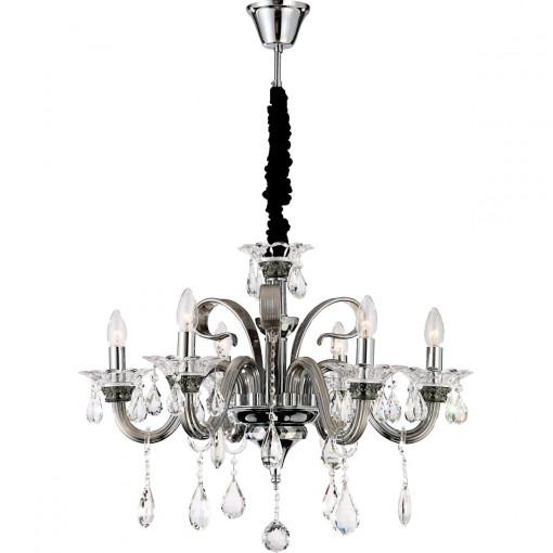 Светильник подвесной, арт. 64104-6, E14, 6x40W, хром