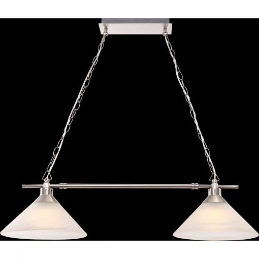 Светильник подвесной, арт. 65100-2, E27, 2x60W, матовый никель
