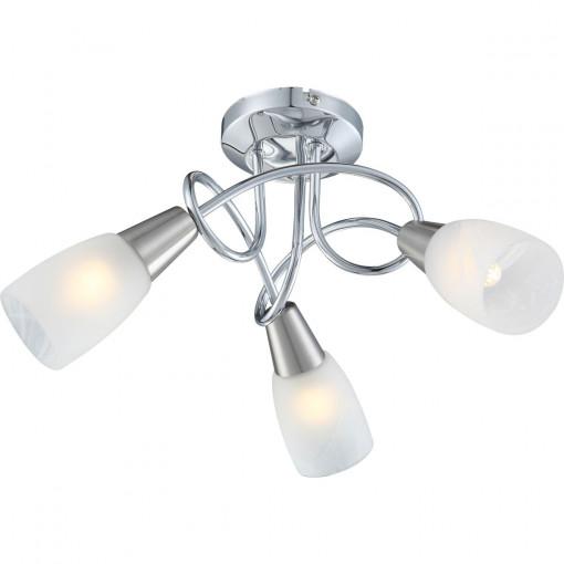 Светильник потолочный, арт. 63178-3, E14, 3x40W, матовый никель