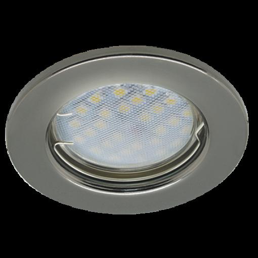 Ecola Light MR16 DL90 GU5.3 Светильник встр. плоский Черный Хром 30x80 - 2pack