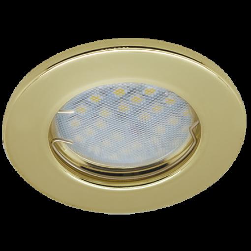 Ecola Light MR16 DL90 GU5.3 Светильник встр. плоский Золото 30x80 - 2pack