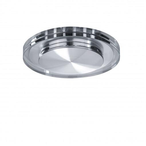 070314 Светильник SPECCIO CYL LED 5W 380LM ХРОМ/ПРОЗРАЧНЫЙ 4000K (в комплекте)