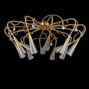 711123*** (SX1105/12) Люстра AEREO 12х25W G9 gold foil (в комплекте)