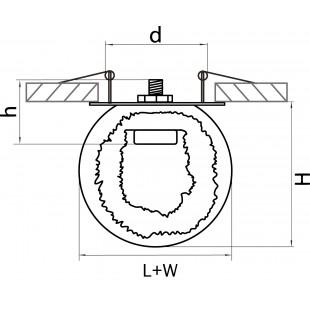 004616*** Светильник BELLE ARTI LED 3W 240LM ХРОМ/БЕЛЫЙ 4200K (в комплекте)