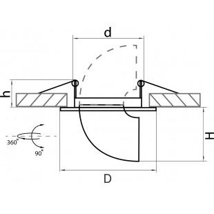 011060 Светильник BRACCIO MR16 БЕЛЫЙ (в комплекте)