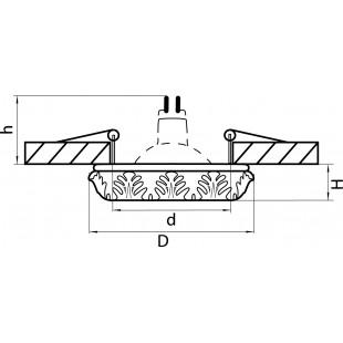 002612 Светильник CORINTO CR MR16/HP16 БЕЛЫЙ ЗОЛОТО (в комплекте)