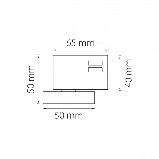 594016 Трековое крепление ASTA с 3-фазным адаптером к 05101x/21444x БЕЛЫЙ