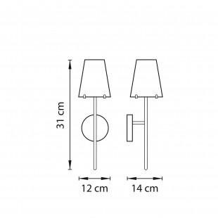 758614 (MB7116-1А) Бра DIAFANO 1х40W G9 ХРОМ/ПРОЗРАЧНЫЙ (в комплекте)
