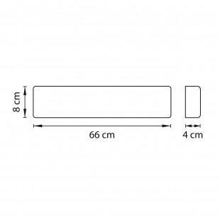 810528 Бра FIUME LED 20W 1900LM Dark wood 3000K (в комплекте)