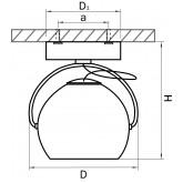 110514 Светильник OCCHIO FABI RIFLESSO HP16 ХРОМ/МАТОВЫЙ (в комплекте)