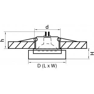 006130 Светильник LEI MINI CR MR16/HP16 ХРОМ/ПРОЗРАЧНЫЙ (в комплекте)