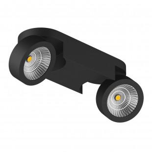 055273 Светильник SNODO LED 2*10W 1960LM 23G ЧЕРНЫЙ 3000K IP20 (в комплекте)