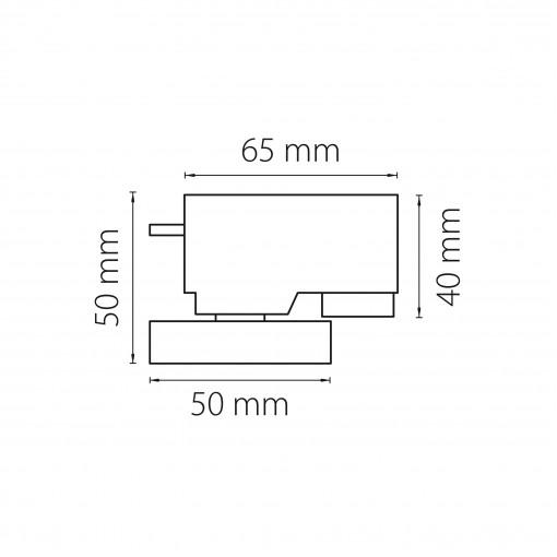 592019 Трековое крепление ASTA с 1-фазным адаптером к 05101xIP65/21444x СЕРЫЙ