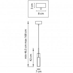 756014 (MD6913-1A) Люстра CILINO 1х40W GU10 CHROME (в комплекте)
