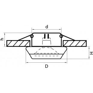 002700 (GM820) Светильник FRITELLA MR16 ХРОМ/БЕЛЫЙ (в комплекте)