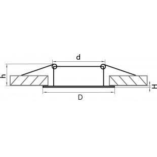 011024 Светильник LEGA HI ADJ MR16/HP16 ХРОМ (в комплекте)