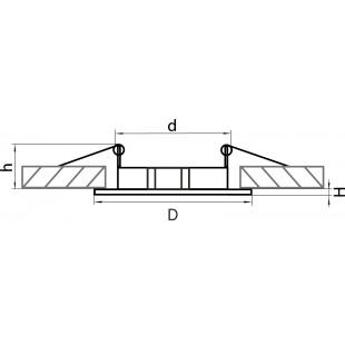 011044 Светильник LEGA 11 FIX MR11/HP11 ХРОМ (в комплекте)