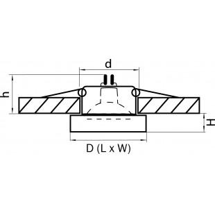 006157 Светильник LEI MICRO BL MR11 ХРОМ/ЧЕРНЫЙ (в комплекте)