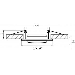 011601 Светильник SINGO X1 MR16/HP16 АЛЮМИНИЙ ХРОМ (в комплекте)
