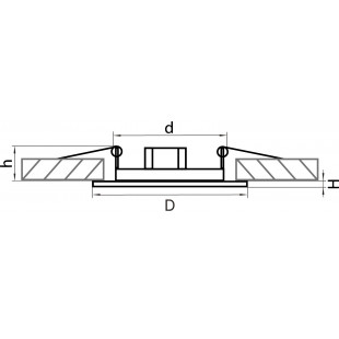 011071 Светильник TESO FIX MR16/HP16 ЗЕЛЕНАЯ БРОНЗА (в комплекте)