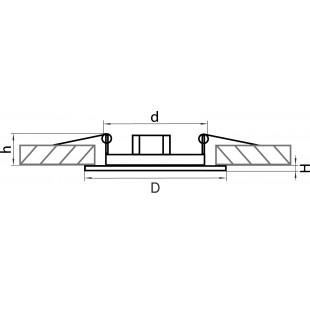 011084 Светильник TESO ADJ MR16/HP16 ХРОМ (в комплекте)