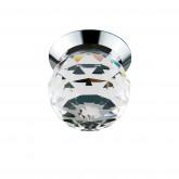 070102 Светильник GEMMA LED 1W 90LM ХРОМ/ПРОЗРАЧНЫЙ 3000K (в комплекте)