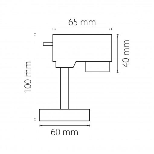 592057 Трековое крепление ASTA с 1-фазным адаптером к 21443х/21448x ЧЕРНЫЙ