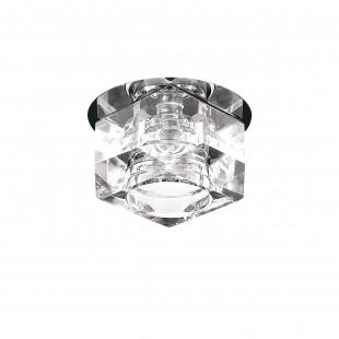 004060R*** Светильник ROMB CR G4 ХРОМ/ПРОЗРАЧНЫЙ (в комплекте)