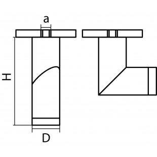 051017 Светильник ILLUMO F HP16 ЧЕРНЫЙ IP65 (в комплекте)