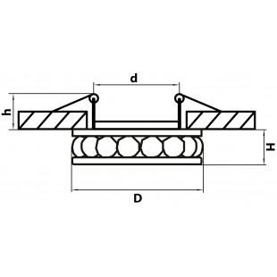 031702 Светильник MONILO INC MR16/HP16 ЗОЛОТО/ПРОЗРАЧНЫЙ (в комплекте)