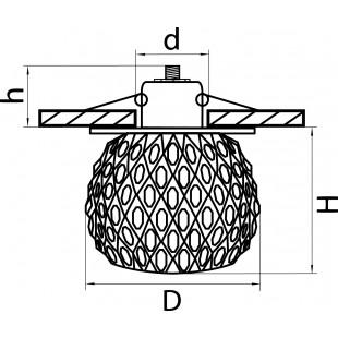 004434*** Светильник OBUNGO MINI G9 ХРОМ/ПРОЗРАЧНЫЙ (в комплекте)