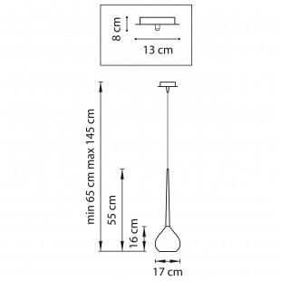 808113 (MD2128-1SO) Подвес FORMA 1х40W E14 ЯНТАРЬ (в комплекте)