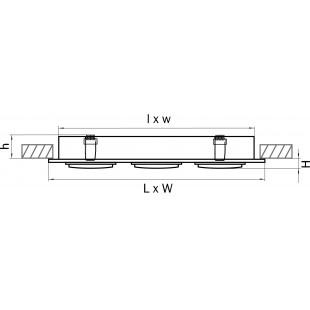 011603 Светильник SINGO X3 MR16/HP16 АЛЮМИНИЙ ХРОМ (в комплекте)