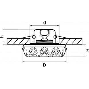 006332 Светильник TORCEA MR16 ХРОМ/ПРОЗРАЧНЫЙ (в комплекте)