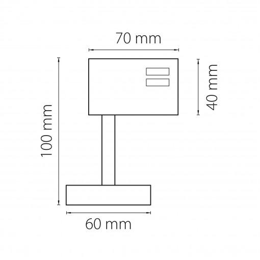 594059 Трековое крепление ASTA с 3-фазным адаптером к 21443х/21448x СЕРЫЙ