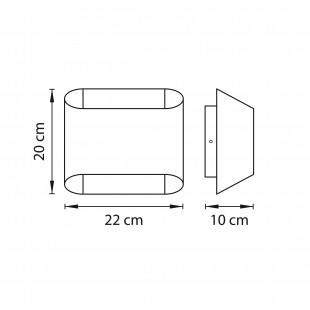 808623 (MB329-2SO) Светильник настенный MURO 2х40W G9 ХРОМ/ЯНТАРЬ (в комплекте)