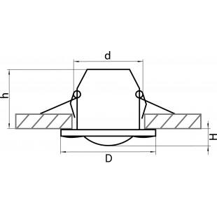 006880 Светильник DIFESA PIANO CR MR16 IP44 БЕЛЫЙ/ПРОЗРАЧНЫЙ (в комплекте)