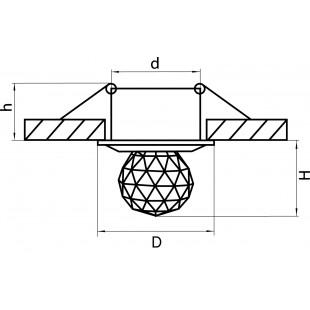 070114 Светильник ASTRA BOL LED 1W 82LM ХРОМ/ПРОЗРАЧНЫЙ 4000K (в комплекте)