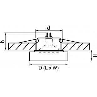 006114 Светильник LEI MR16/HP16 ХРОМ/ПРОЗРАЧНЫЙ (в комплекте)