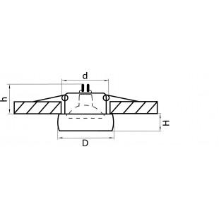 006201 Светильник TONDO OPACO MR16/HP16 ХРОМ/МАТОВЫЙ (в комплекте)