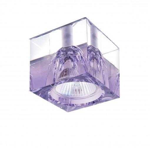 004149-G5.3*** Светильник META VI ХРОМ/ПРОЗРАЧНЫЙ, СИРЕНЕВЫЙ (в комплекте)
