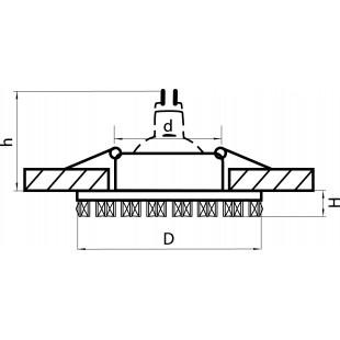 002534 Светильник INGRANO MR16/HP16 ХРОМ/ЗЕРКАЛЬНЫЙ (в комплекте)