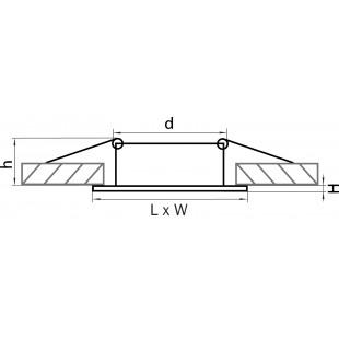011034 Светильник LEGA QUA ADJ MR16/HP16 ХРОМ (в комплекте)